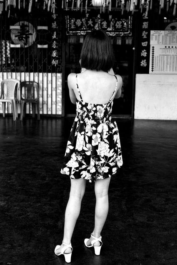 A Black White Flower Dress Nick Van Dijk
