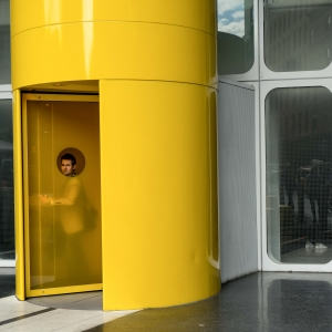 The Man in the Yellow Door