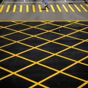 Geometric patterns on the road