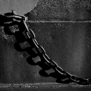 iron chain with shadow